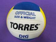 Мяч волейбольный (Torres) Dig Soft touch.